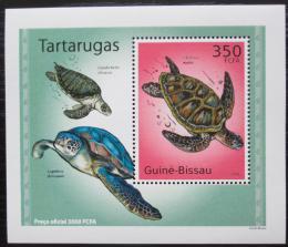 Poštovní známka Guinea-Bissau 2010 Želvy DELUXE Mi# 5025 Block