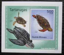 Poštovní známka Guinea-Bissau 2010 Želvy DELUXE Mi# 5027 Block