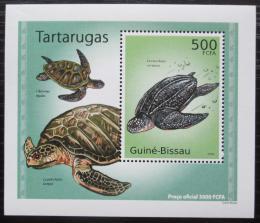 Poštovní známka Guinea-Bissau 2010 Želvy DELUXE Mi# 5028 Block