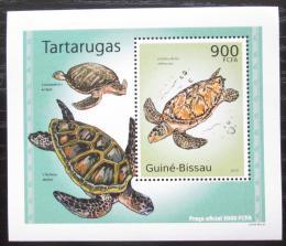 Poštovní známka Guinea-Bissau 2010 Želvy DELUXE Mi# 5030 Block