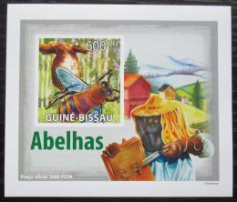 Poštovní známka Guinea-Bissau 2009 Vèely neperf. DELUXE Mi# 4131 B Block