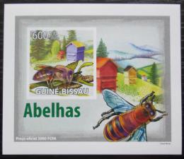 Poštovní známka Guinea-Bissau 2009 Vèely neperf. DELUXE Mi# 4132 B Block
