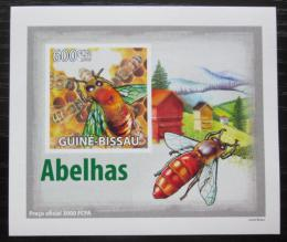 Poštovní známka Guinea-Bissau 2009 Vèely neperf. DELUXE Mi# 4133 B Block