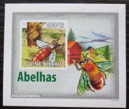 Poštovní známka Guinea-Bissau 2009 Vèely neperf. DELUXE Mi# 4134 B Block