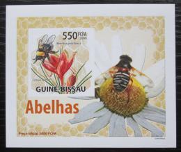 Poštovní známka Guinea-Bissau 2009 Vèely a kvìtiny neperf DELUXE Mi# 4463 B Block