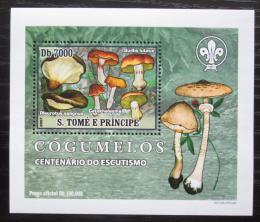 Poštovní známka Svatý Tomáš 2007 Houby, skauting DELUXE Mi# 3004 Block