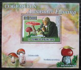 Poštovní známka Svatý Tomáš 2007 Houby, Alexander Fleming DELUXE Mi# 2971 Block