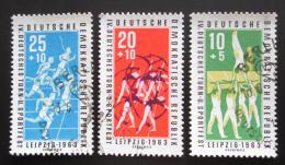 Poštovní známky DDR 1963 Sport Mi# 963-65 Kat 3.80€