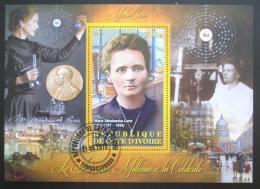 Poštovní známka Pobøeží Slonoviny 2013 Marie Curie-Sklodowská Mi# N/N
