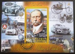 Poštovní známka Pobøeží Slonoviny 2013 Carl Benz Mi# N/N