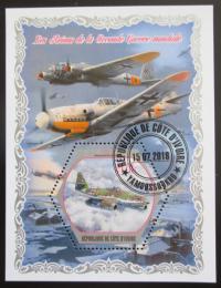 Poštovní známka Pobøeží Slonoviny 2018 Váleèná letadla Mi# N/N
