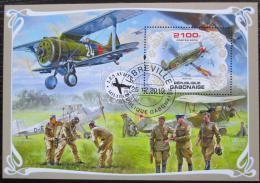 Poštovní známka Gabon 2019 Váleèná letadla Mi# N/N