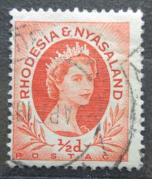 Poštovní známka Rhodésie a Òasko 1954 Královna Alžbìta II. Mi# 1 A