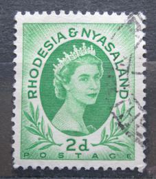 Poštovní známka Rhodésie a Òasko 1954 Královna Alžbìta II. Mi# 3