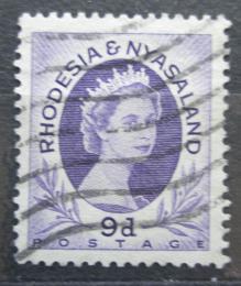 Poštovní známka Rhodésie a Òasko 1954 Královna Alžbìta II. Mi# 9