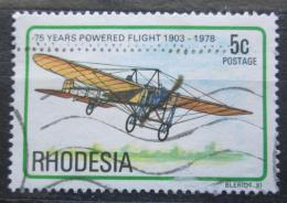 Poštovní známka Rhodésie, Zimbabwe 1978 Staré letadlo Mi# 222