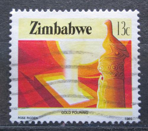 Poštovní známka Zimbabwe 1985 Odlévání zlata Mi# 316 A - zvìtšit obrázek