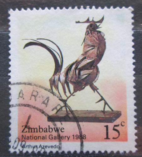 Poštovní známka Zimbabwe 1988 Kovový kohout, Arthur Azevedo Mi# 378