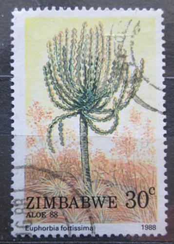 Poštovní známka Zimbabwe 1988 Euphorbia fortissima Mi# 387