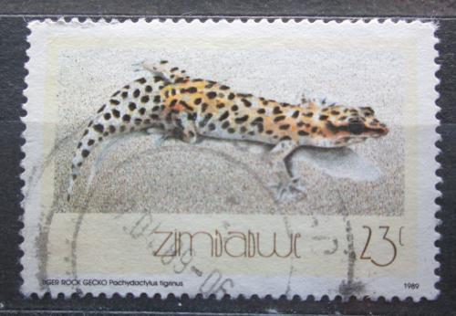 Poštovní známka Zimbabwe 1989 Ještìrka, Pachydactylus tigrinus Mi# 397