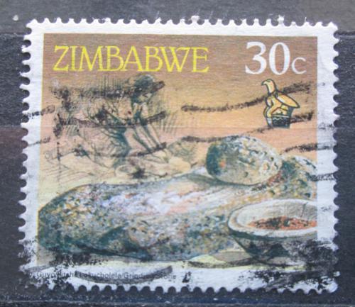 Poštovní známka Zimbabwe 1990 Mlecí kámen Mi# 429