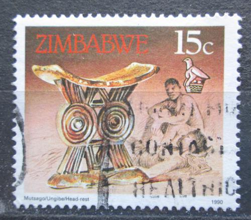 Poštovní známka Zimbabwe 1990 Opìrka hlavy Mi# 424