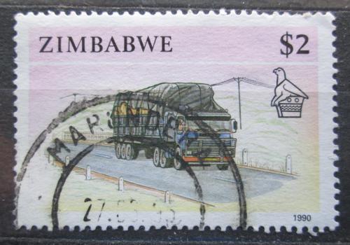 Poštovní známka Zimbabwe 1990 Nákladní auto Mi# 435