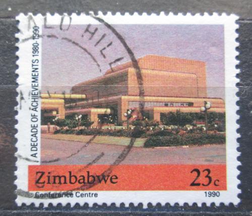 Poštovní známka Zimbabwe 1990 Konferenèní budova v Harare Mi# 437