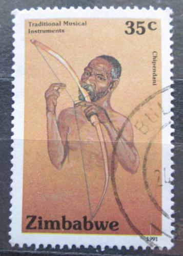 Poštovní známka Zimbabwe 1991 Hudební nástroj Chipendani Mi# 457