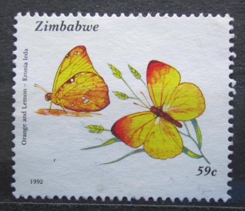Poštovní známka Zimbabwe 1992 Motýli Mi# 489