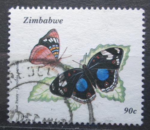 Poštovní známka Zimbabwe 1992 Motýli Mi# 491
