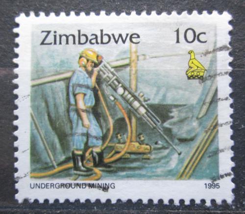 Poštovní známka Zimbabwe 1995 Tìžba zlata Mi# 543