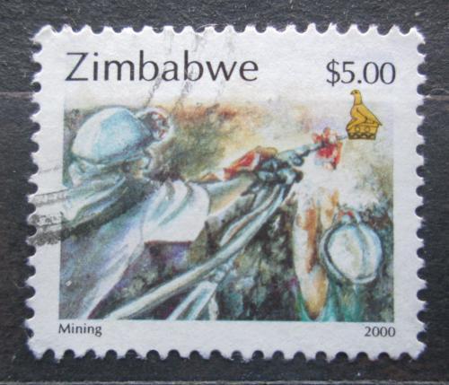 Poštovní známka Zimbabwe 2000 Hornictví Mi# 665