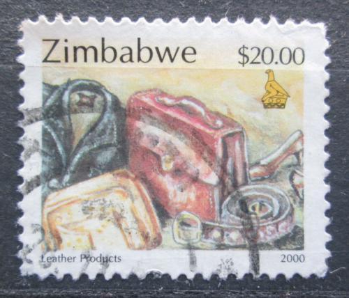 Poštovní známka Zimbabwe 2000 Výrobky z kùže Mi# 669