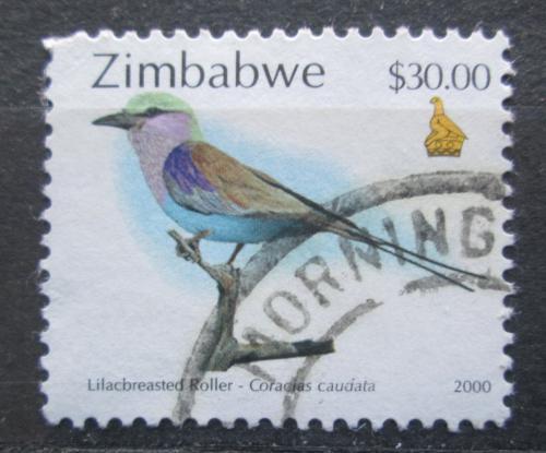 Poštovní známka Zimbabwe 2000 Mandelík fialovoprsý Mi# 670