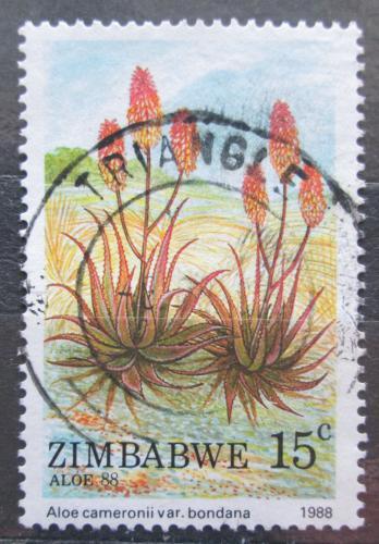 Poštovní známka Zimbabwe 1988 Aloe cameronii Mi# 384