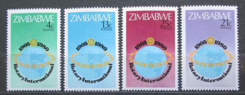 Poštovní známky Zimbabwe 1980 Rotary Intl.,  75. výroèí Mi# 242-45