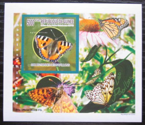 Poštovní známka Guinea 2010 Motýli neperf. DELUXE Mi# 7515 B Block