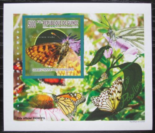 Poštovní známka Guinea 2010 Motýli neperf. DELUXE Mi# 7516 B Block