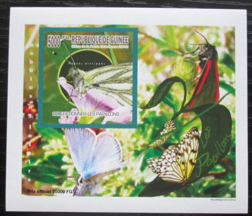 Poštovní známka Guinea 2010 Motýli neperf. DELUXE Mi# 7518 B Block