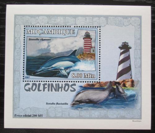 Poštovní známka Mosambik 2007 Delfíni a majáky DELUXE Mi# 3046 Block