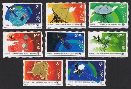 Poštovní známky Zair 1983 Vesmírné satelity Mi# 822-29 Kat 8€