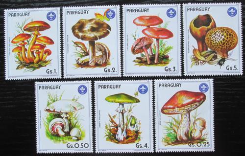 Poštovní známky Paraguay 1985 Houby Mi# 3835-41 Kat 17€