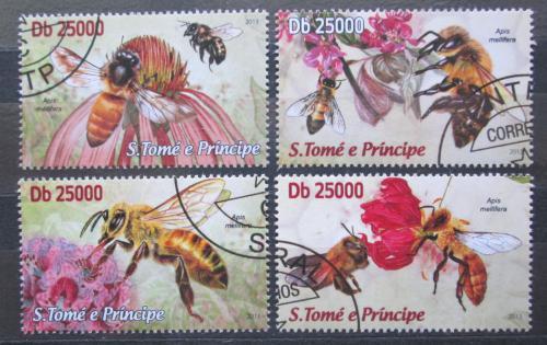 Poštovní známky Svatý Tomáš 2013 Vèely Mi# 5061-64 Kat 10€