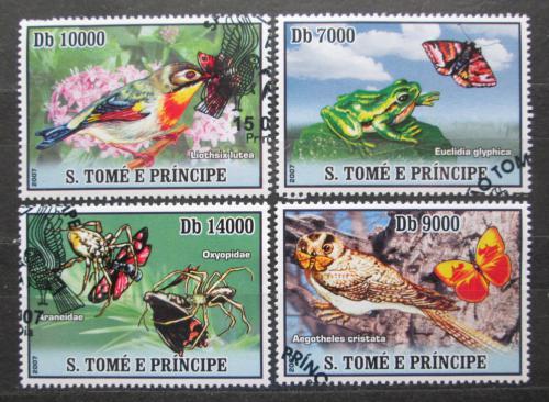 Poštovní známky Svatý Tomáš 2007 Fauna, skauting Mi# 3016-19 Kat 12€