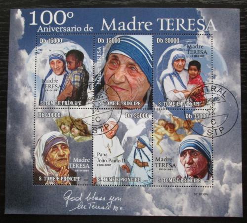 Poštovní známky Svatý Tomáš 2010 Matka Tereza Mi# 4550-55 Kat 13€