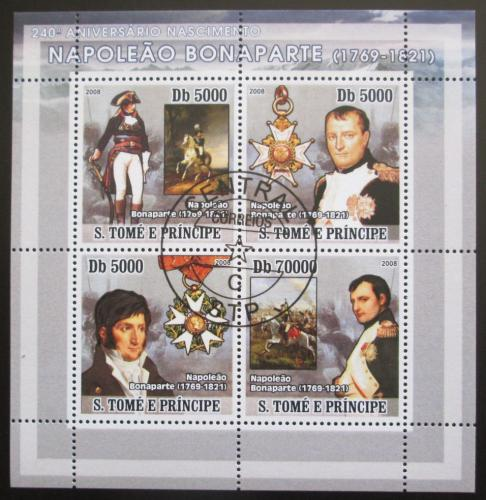 Poštovní známky Svatý Tomáš 2008 Napoleon Bonaparte Mi# 3262-65 Bogen Kat 12€