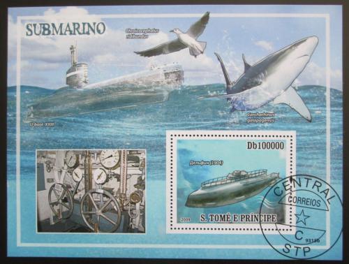 Poštovní známka Svatý Tomáš 2009 Ponorky Mi# Block 693 Kat 10€
