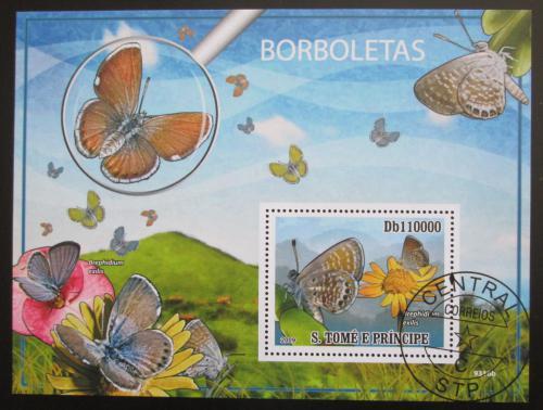 Poštovní známka Svatý Tomáš 2009 Motýli Mi# Block 700 Kat 11€