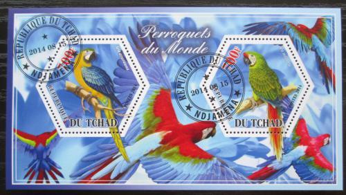 Poštovní známky Èad 2015 Papoušci Mi# N/N